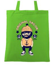 Sacosa din panza Original sailor Verde mar