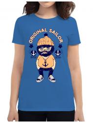 Tricou ADLER dama Original sailor Albastru azuriu