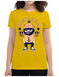 Tricou ADLER dama Original sailor Galben