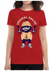 Tricou ADLER dama Original sailor Rosu