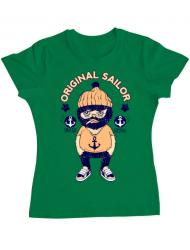 Tricou ADLER dama Original sailor Verde mediu