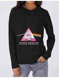 Hoodie dama cu gluga Pink Freud Negru