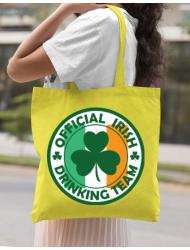 Sacosa din panza Irish Drinking Team Galben