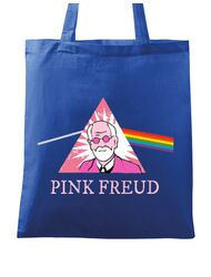 Sacosa din panza Pink Freud Albastru regal