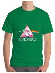 Tricou ADLER barbat Pink Freud Verde mediu
