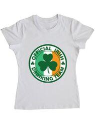 Tricou ADLER dama Irish Drinking Team Alb