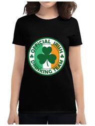 Tricou ADLER dama Irish Drinking Team Negru