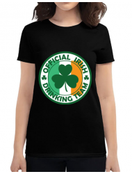 Tricou ADLER dama Irish Drinking Team Negru