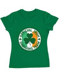 Tricou ADLER dama Irish Drinking Team Verde mediu
