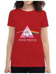 Tricou ADLER dama Pink Freud Rosu