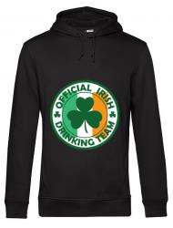 Hoodie barbat cu gluga Irish Drinking Team Negru