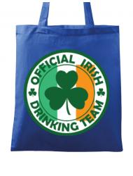 Sacosa din panza Irish Drinking Team Albastru regal