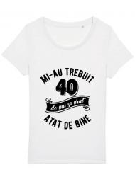Tricou STANLEY STELLA dama 40 de ani Alb