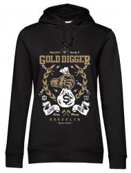Hoodie dama cu gluga Gold Digger Negru
