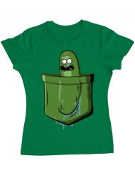 Tricou ADLER dama Pocket Pickle Verde mediu