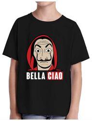 Tricou ADLER copil Bella ciao Negru
