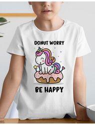 Tricou de colorat Donut worry be happy