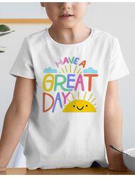 Tricou de colorat Have a great day