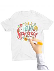 Tricou de colorat Hello spring SET