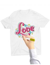 Tricou de colorat Love SET