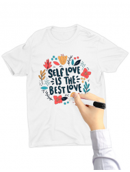 Tricou de colorat Love yourself SET