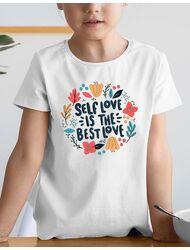 Tricou de colorat Love yourself