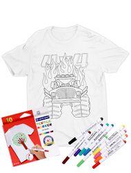 Tricou de colorat Monster truck cartoon