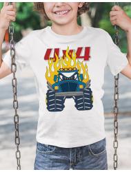 Tricou de colorat Monster truck cartoon SET