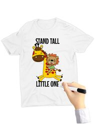 Tricou de colorat Stand tall little one