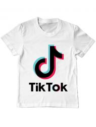 Tricou ADLER copil Tik Tok Alb