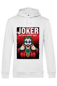 Tricou ADLER copil Joker happy face Alb