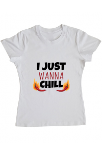 Tricou ADLER copil I just wanna chill Alb