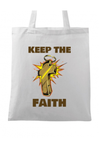 Tricou ADLER barbat Keep the Faith Alb