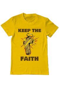 Tricou ADLER dama Keep the Faith Galben