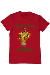 Tricou ADLER dama Keep the Faith Rosu