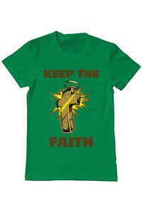 Tricou ADLER copil Keep the Faith Verde mediu