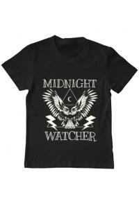 Tricou ADLER barbat Midnight Watcher Negru