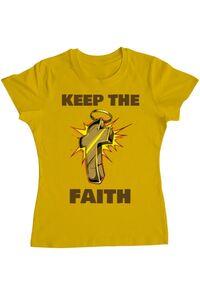 Sacosa din panza Keep the Faith Galben
