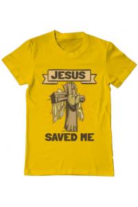 Tricou ADLER dama Jesus Saved Me Galben