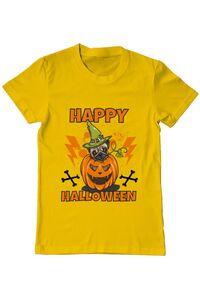 Sacosa din panza Halloween Pug Galben