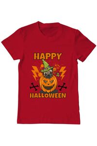 Sacosa din panza Halloween Pug Rosu