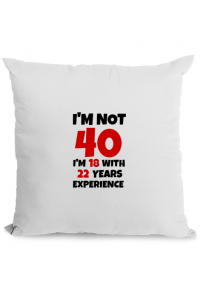 Cana personalizata 40 Birthday Alb