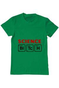 Tricou ADLER dama Science Bitch Verde mediu