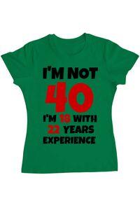 Tricou ADLER barbat 40 Birthday Verde mediu