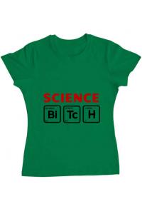 Tricou ADLER barbat Science Bitch Verde mediu