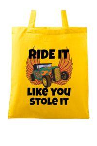 Tricou ADLER dama Ride it like you stole it Galben