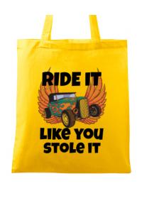 Tricou ADLER barbat Ride it like you stole it Galben