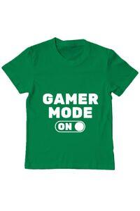 Tricou ADLER barbat Gamer mode on Verde mediu