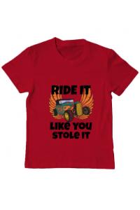 Tricou ADLER dama Ride it like you stole it Rosu
