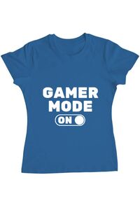 Tricou ADLER barbat Gamer mode on Albastru azuriu
